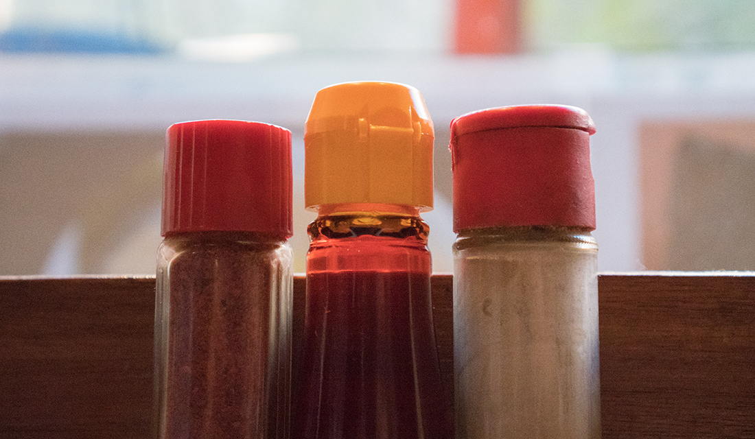 "This piece is titled, ""Sauce Bokeh""."