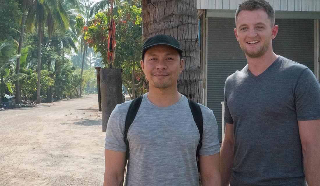 My twin and I visiting the Coconut Sugar Farm (i.e. Generic Souvenir Shop).