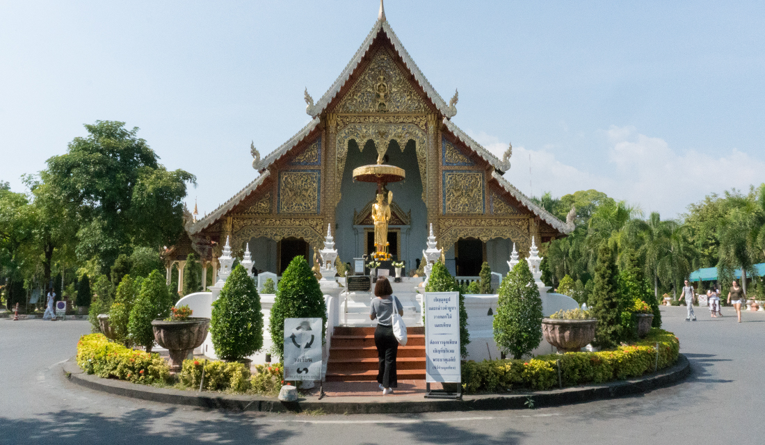 The entrance to Wat Phra Singh.