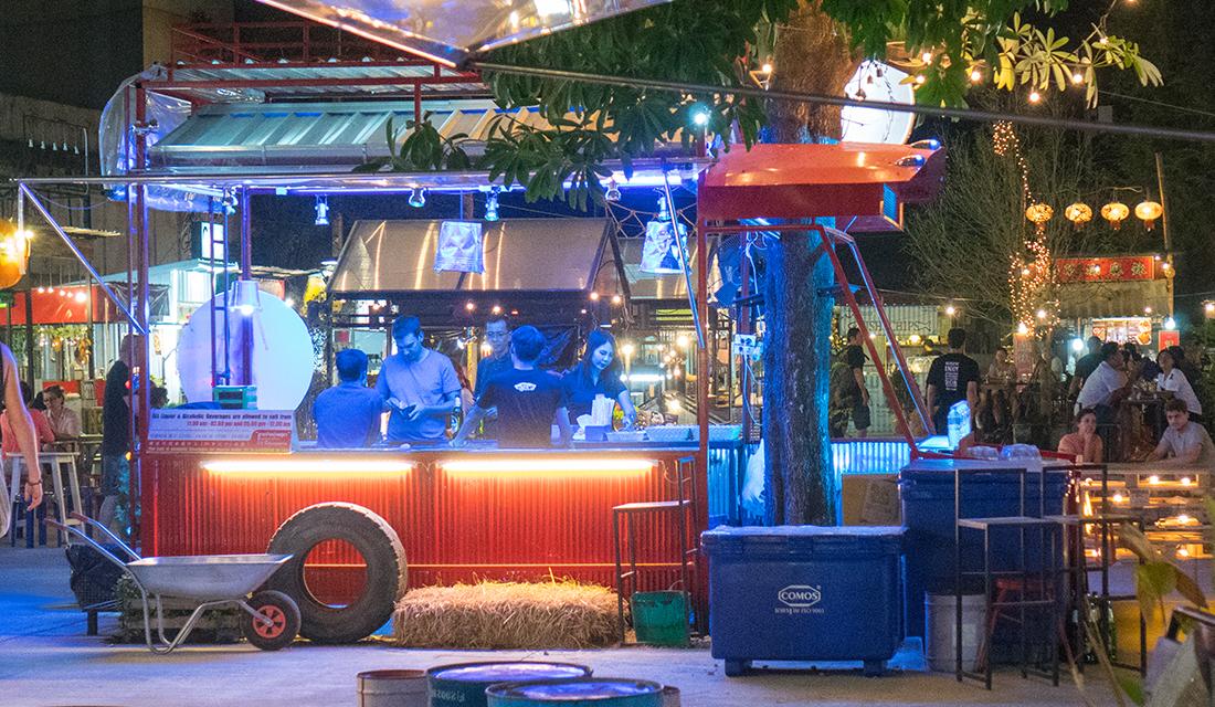 Burnign Man art car or beer cart?