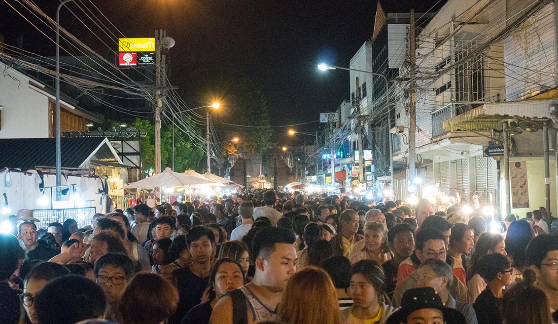 Chiang Mai Sunday walking market.