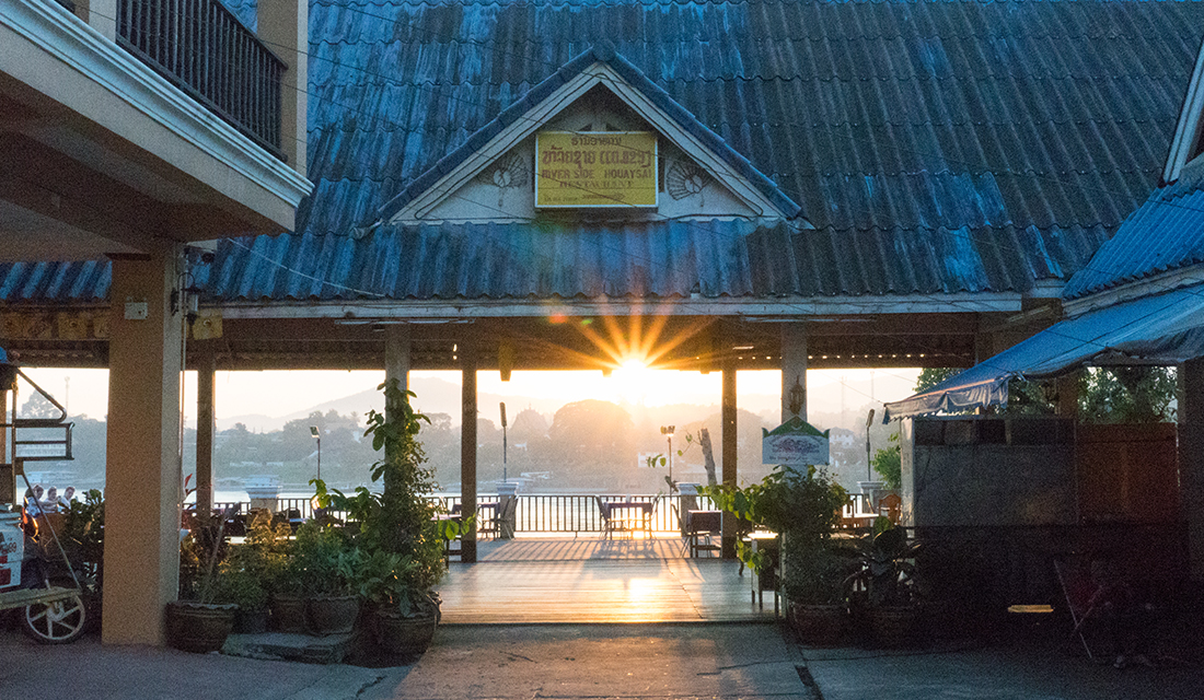 The Riverside Huayxay Hotel with a view to Chiang Khong.