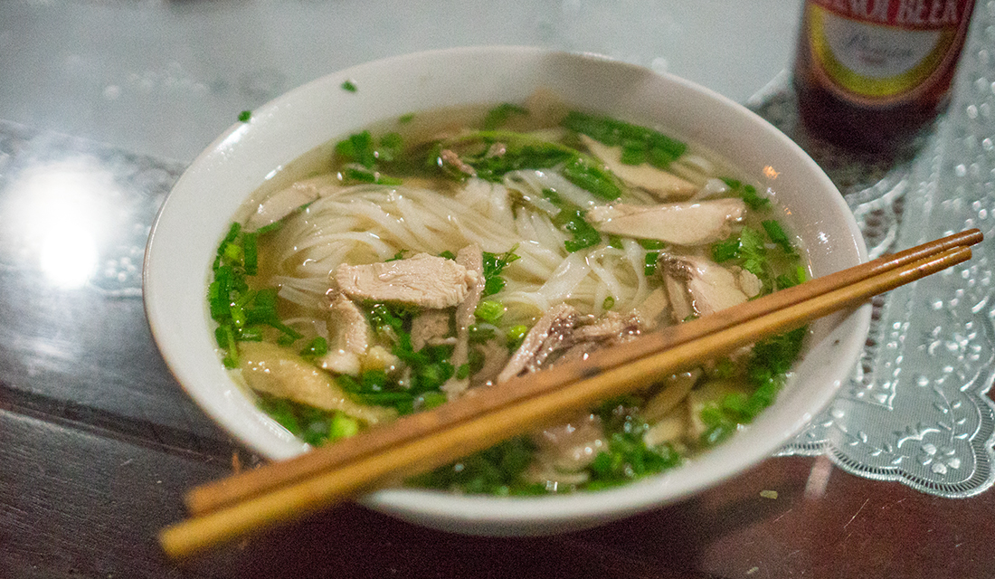 First meal in Vietnam: obviously a bowl of pho.