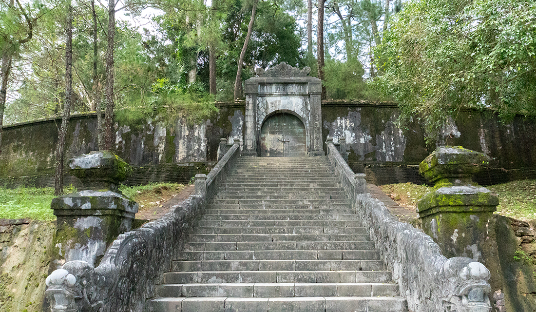 The sealed tomb entrance of Mang Minh.